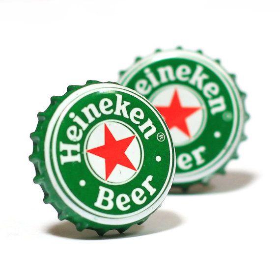 Green Heineken Dutch Beer Bottle Cap Cufflinks Cuff Links 12 50 Bierfles Beer