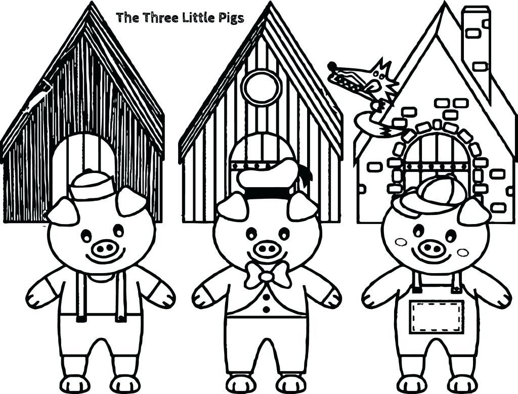 4 Three Little Pigs Coloring Pages For Preschool Coloring Page
