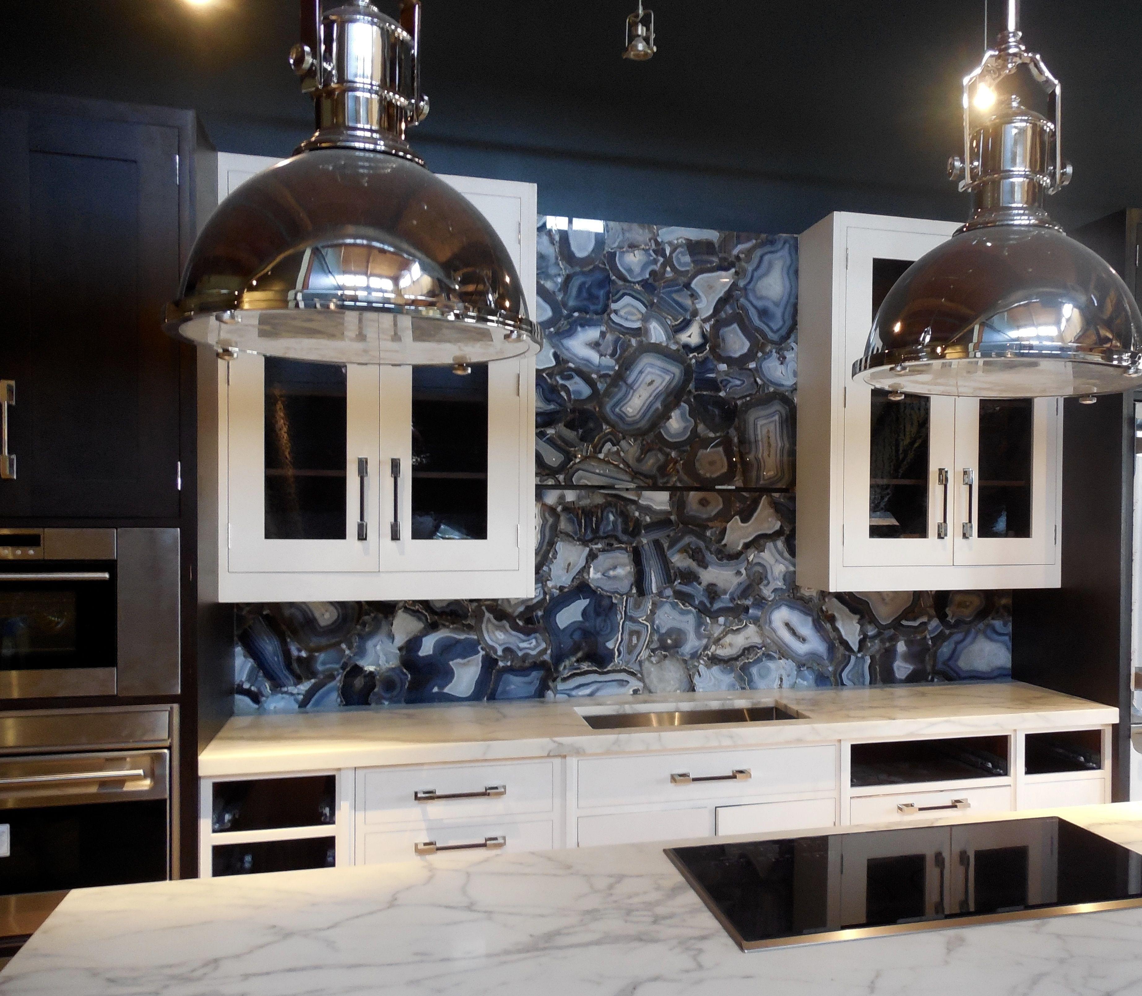 Tithof Tile U0026 Marble Blue Agate Geode Kitchen Backsplash