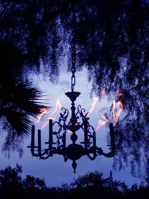 Propane powered fire chandeliers fire chandeliers pinterest propane powered fire chandeliers outdoor lightingoutdoor workwithnaturefo
