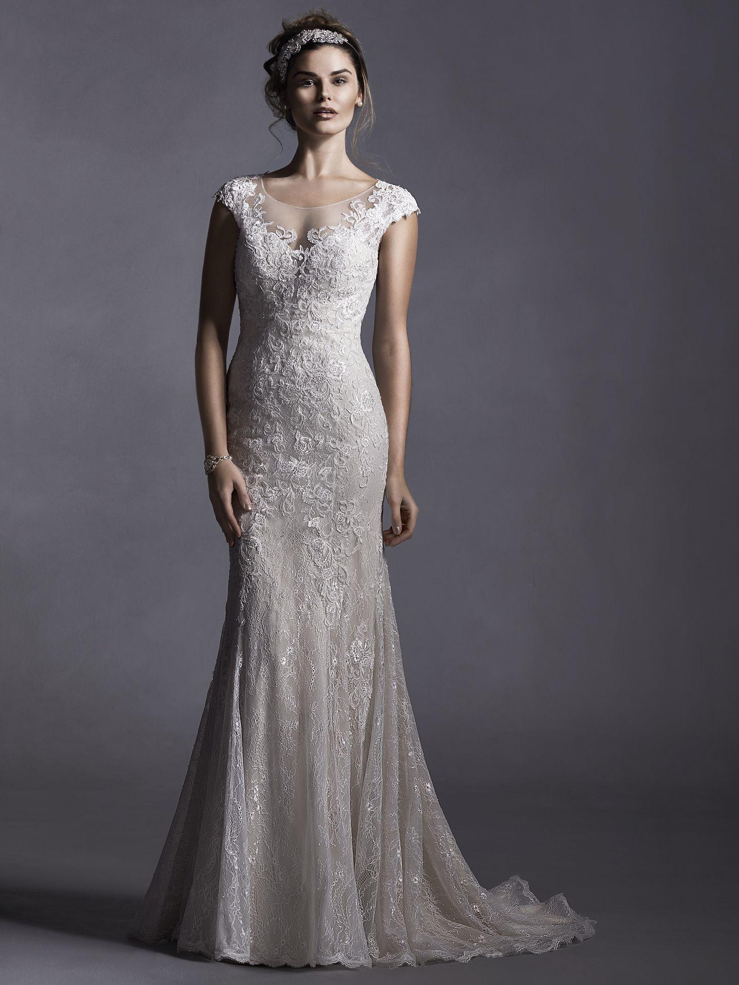 Maggie sottero wedding dresses illusion neckline wedding dress