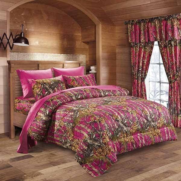 Lightweight Reversible Down Alternative Camouflage Comforter Set