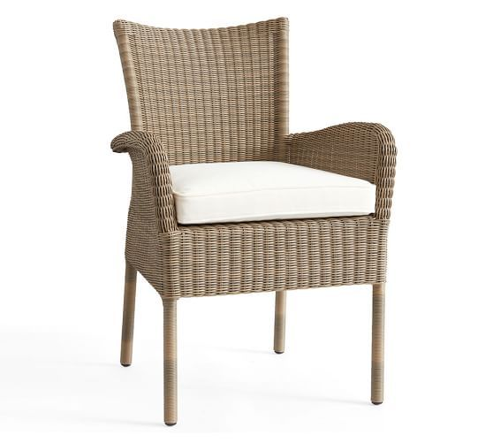 Georgia All-Weather Wicker Stacking Dining Armchair