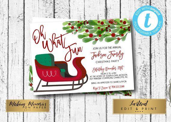 christmas party invitation editable invitation holiday party