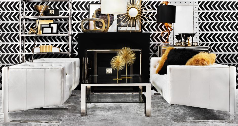 Inspired By This Look On @ZGallerie From Z Gallerie... Stunning Black And ·  Gold Living RoomsChic ...
