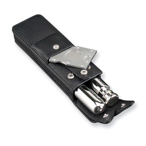 Cigar Gift Stainless Flask And Cigar Case With Cutter Cigar