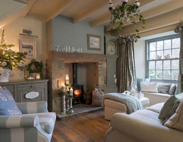 75 Magnificence Habby Chic Farmhouse Living Room Design Ideas Country Cottage Interiors Country Cottage Living Country Chic Living Room #small #cottage #living #room