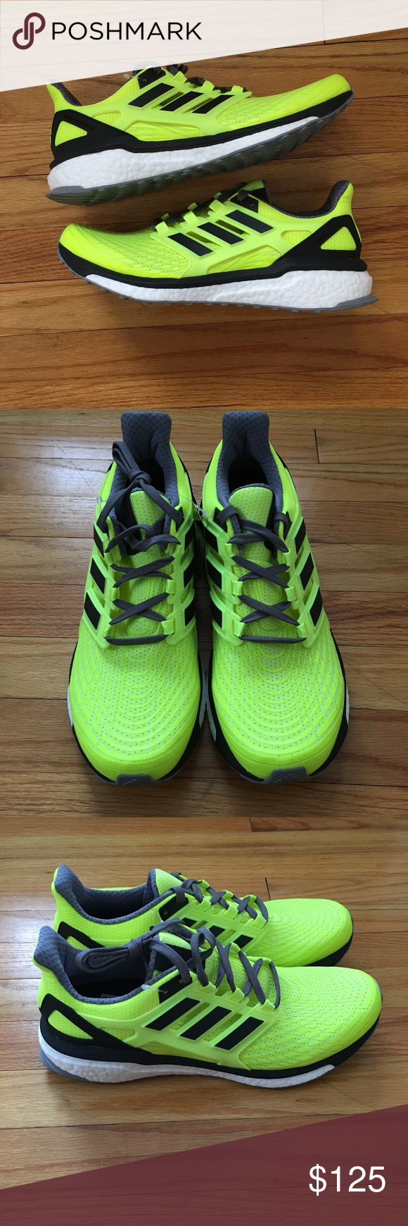 808803ace Adidas Energy Boost M Solar Yellow Size 10 BB3455 Brand new