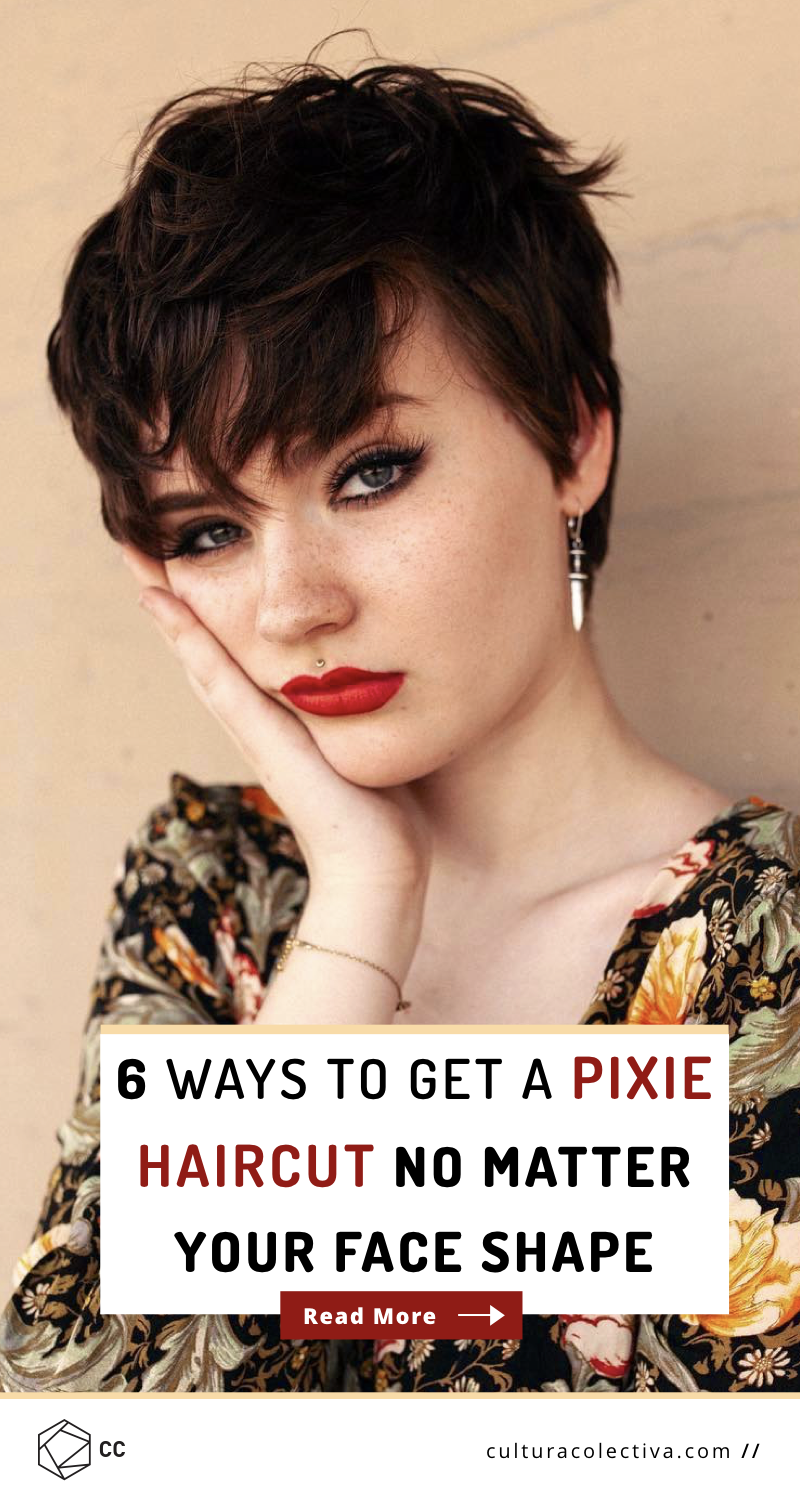 6 Ways To Get A Pixie Haircut No Matter Your Face Shape.  It's common to think you don't have the right face shape to pull off a pixie cut. This guide will show you the opposite. You just have to know what works best for you. #shortpixie