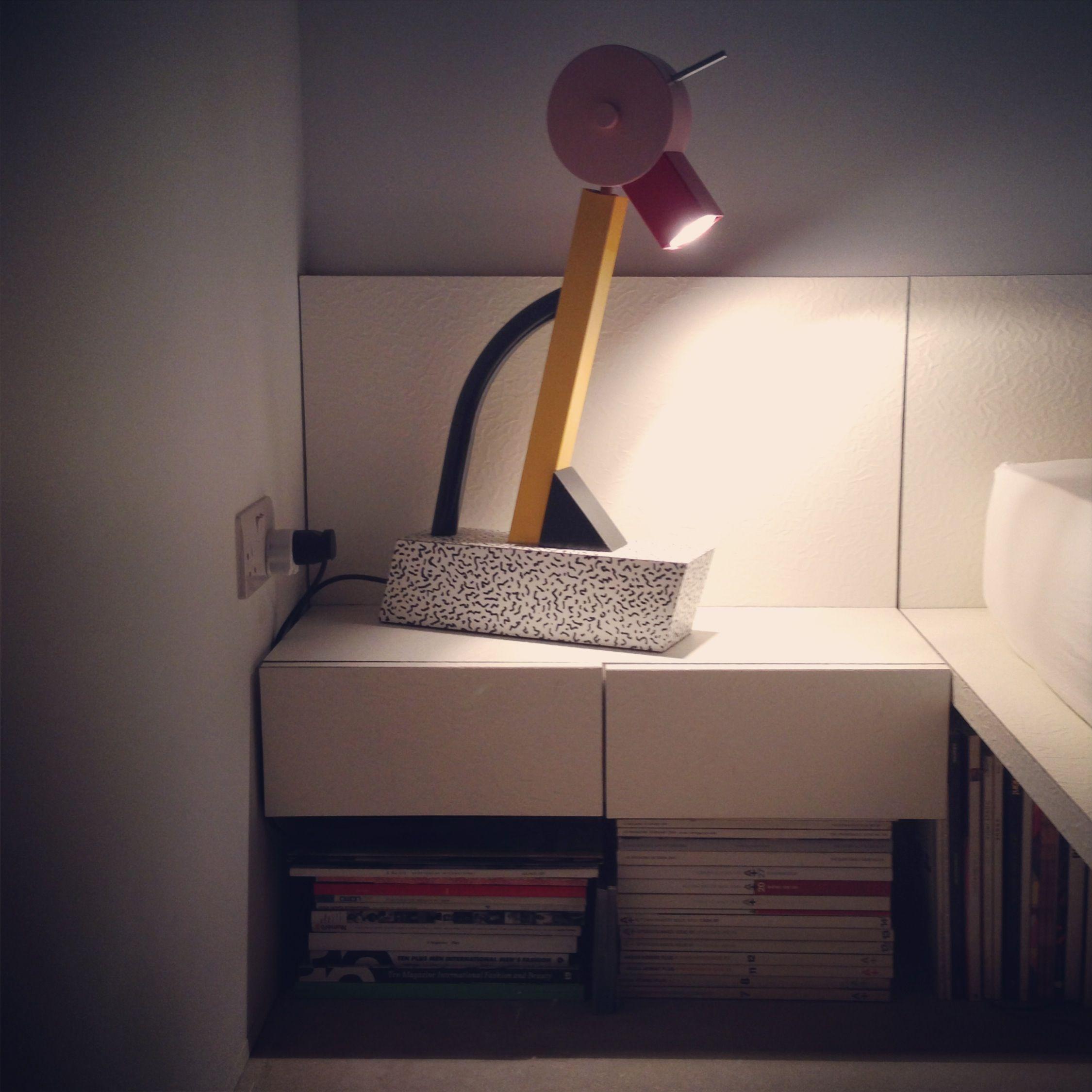 Bedside Memphis Lamp Objects Furniture Muebles Pinterest  # Muebles Memphis