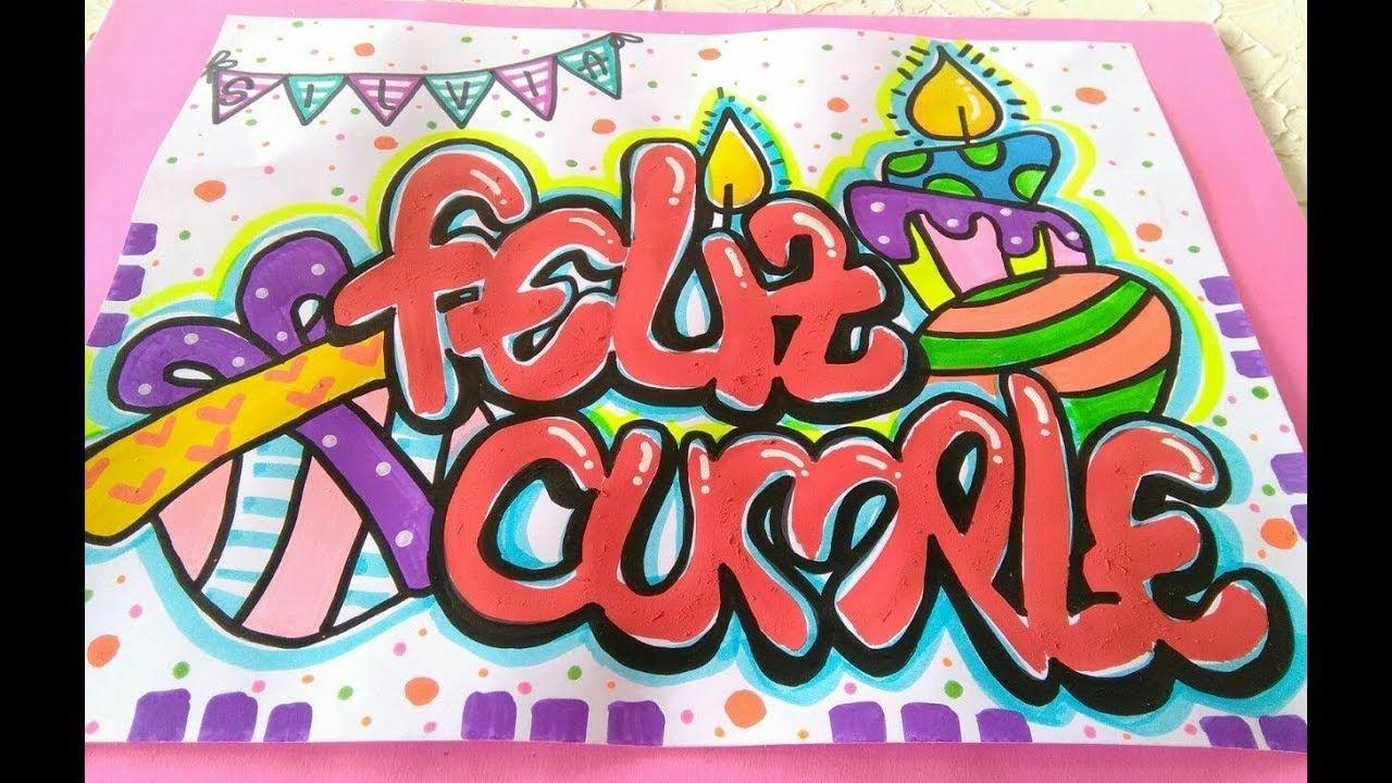 Tutorial   Tarjeta letra Timoteo para cumpleaños #2 DIY · Hecho Con Estilo    Carteles de amor, Pancarta de cumpleaños, Feliz cumpleaños letra