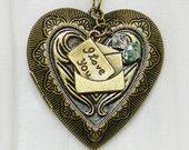 Solid Perfume Locket, Heart Locket, Heart Necklace, Heart Pendant, Perfume Locket, Gift