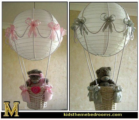 I Could Totally Make This: Hot Air Balloon Lamp Made With Paper Lantern Shade. I