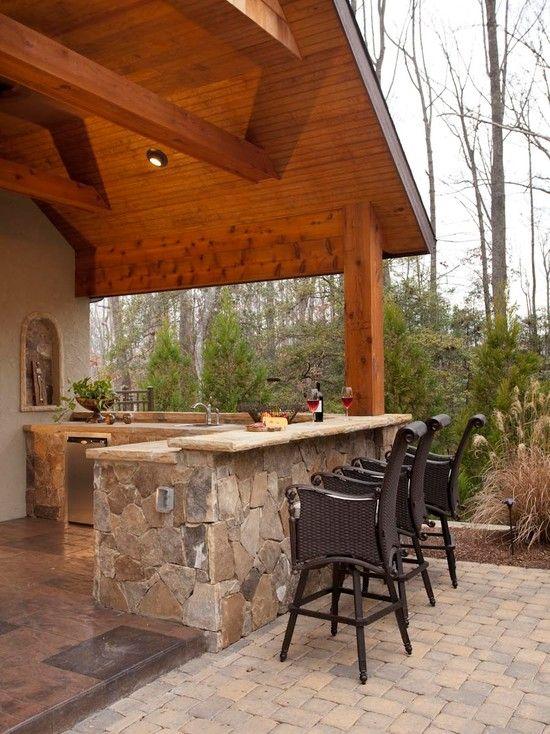 Outdoor kitchen diy outdoor bar  kitchen ideas Pinterest