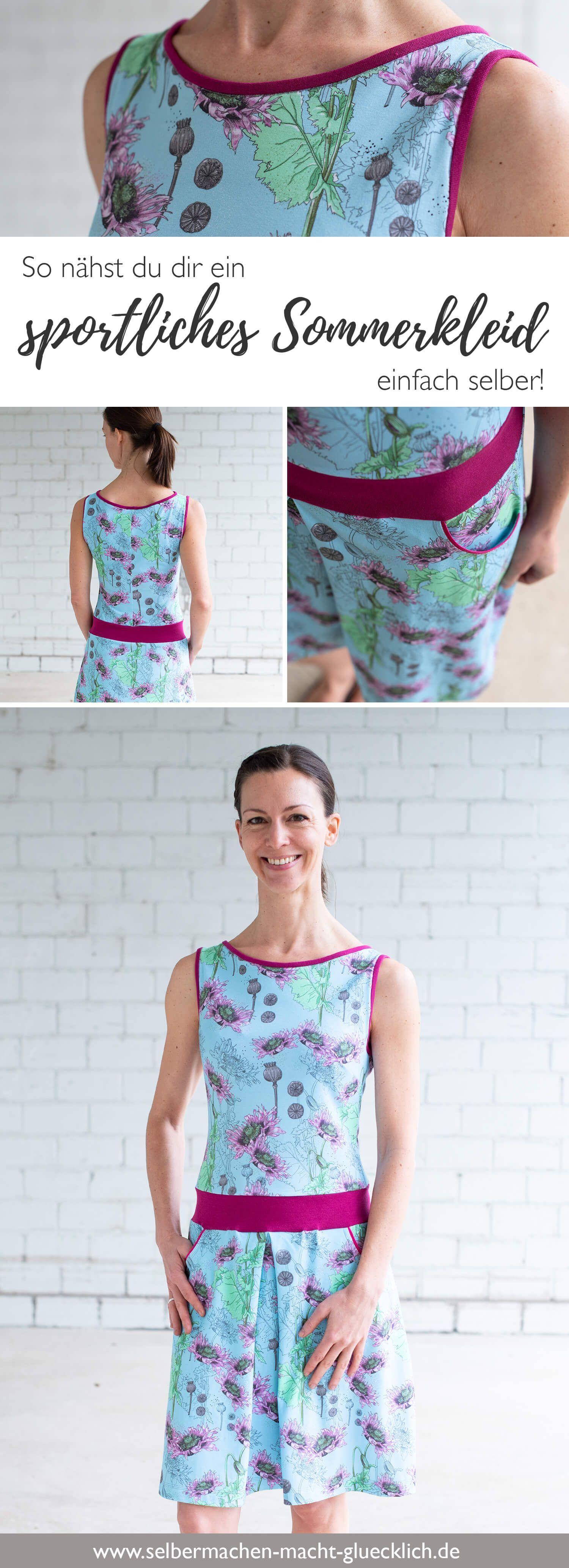 So nähst du ein sportliches Sommerkleid! - Selbermachen macht glücklich #summerdresses
