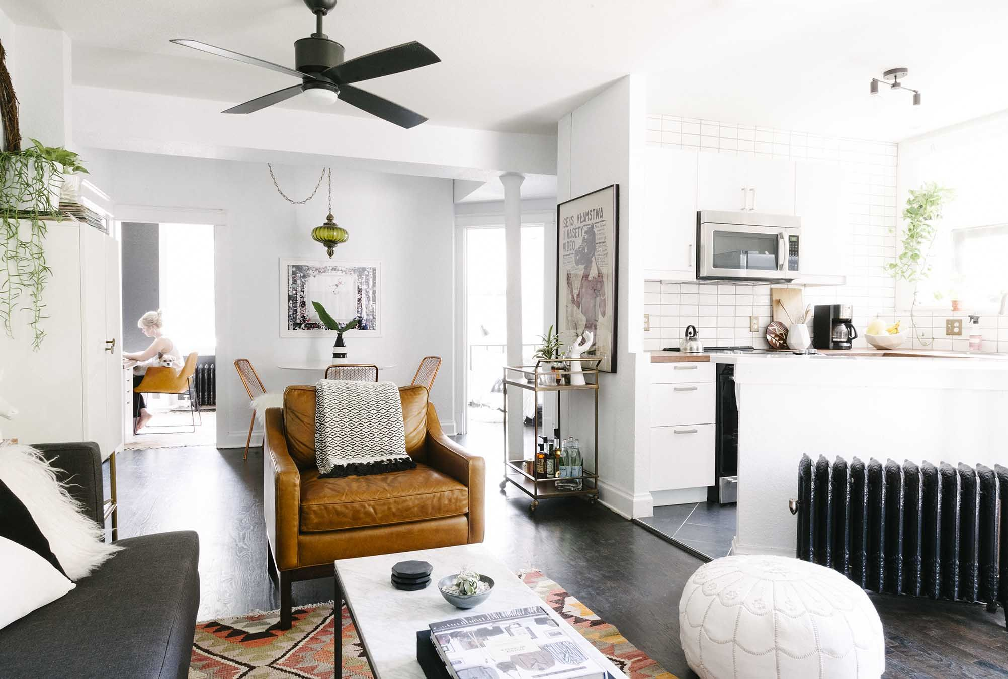 Amy\'s 600 Square Feet Of Eclectic And Modern Charm | Small space ...