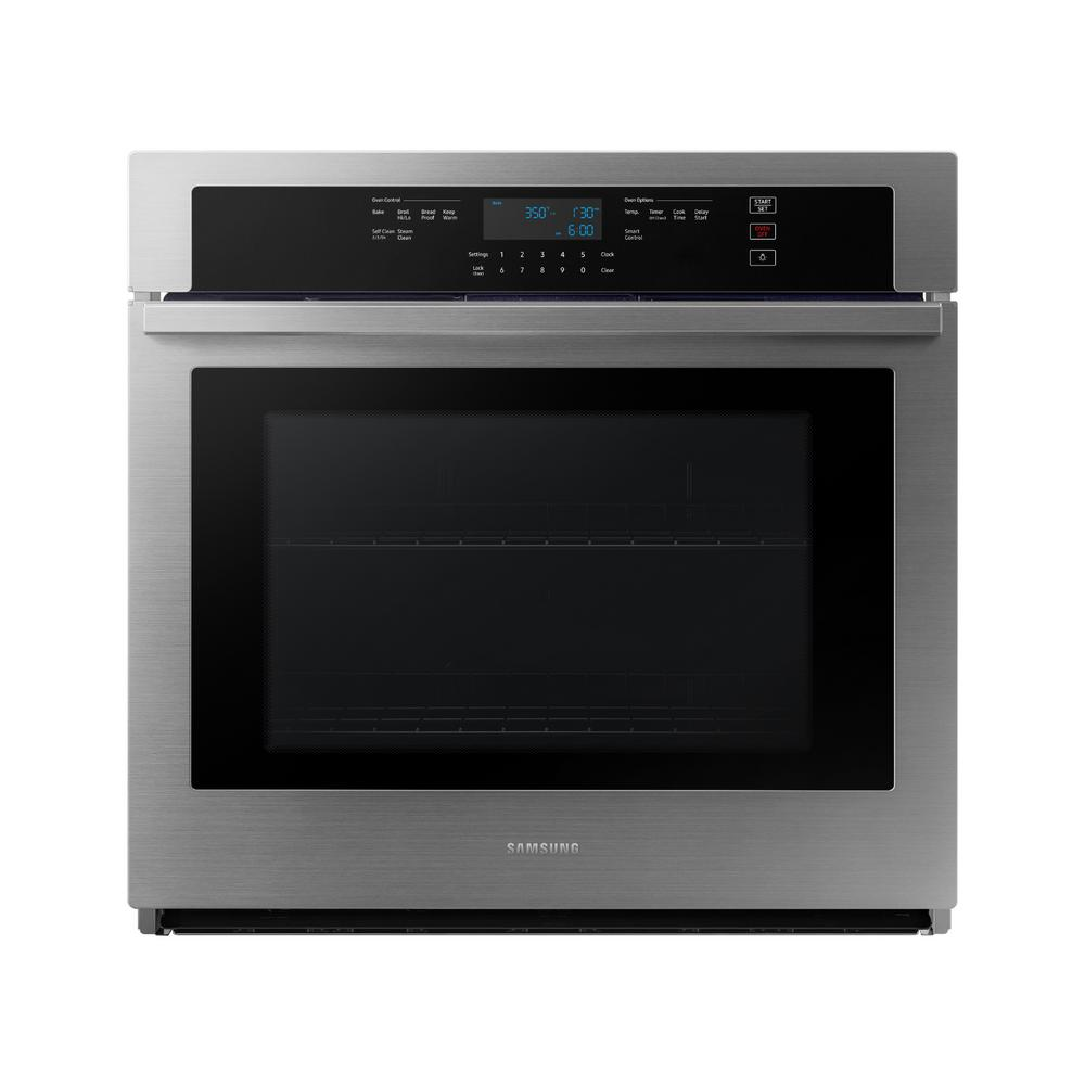 Samsung 30 In Single Electric Wall Oven In Stainless Steel Nv51t5511ss The Home Depot 998 Matches In 2020 Single Electric Wall Oven Electric Wall Oven Wall Oven