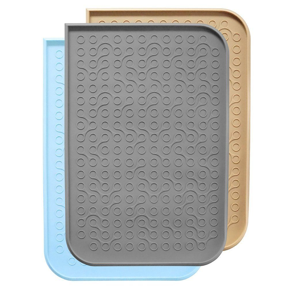 pet vie mats premium pin dog grade safe slip food feeding non cat bowl fda no mat la waterproof for spill in silicone water placemat