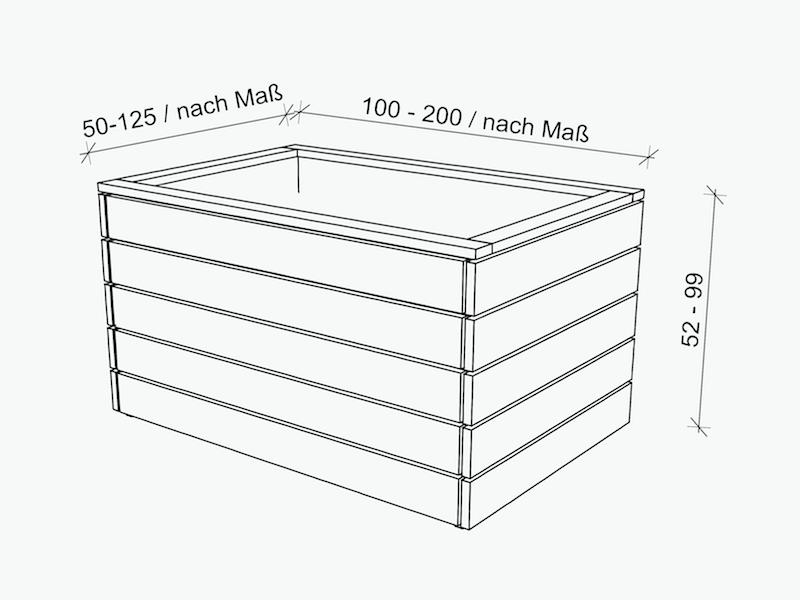 Hochbeet Nach Mass Direkt Vom Hersteller Holzweise Hochbeet Hochbeet Holz Beete
