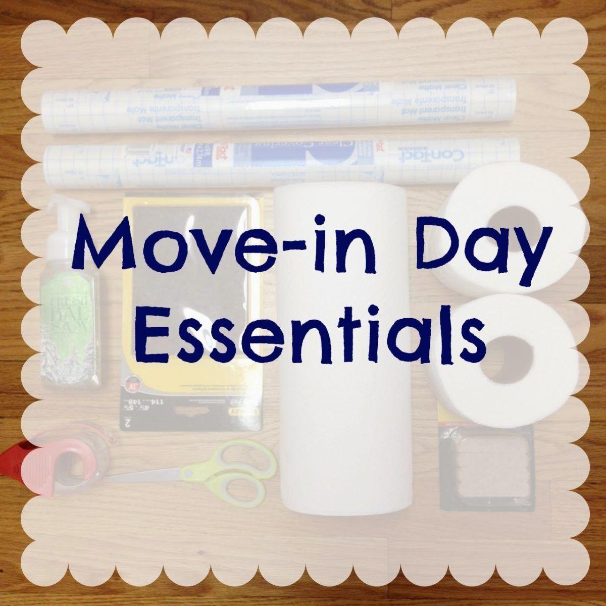 Moving Day Essentials | First apartment essentials ...