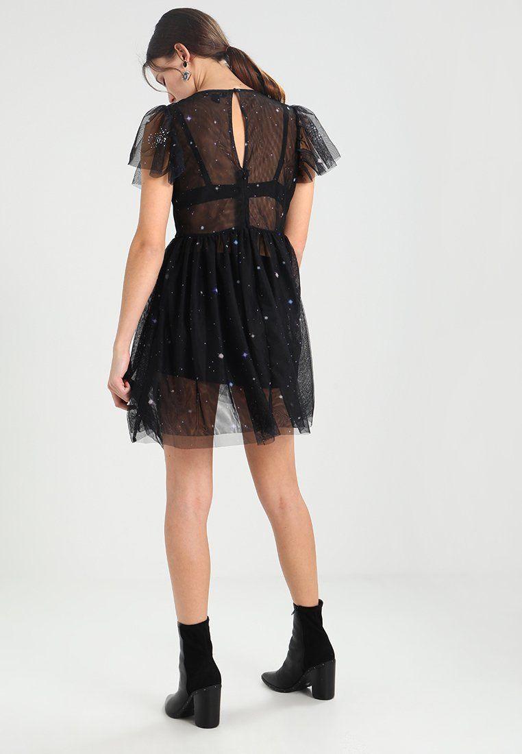 Go prem matte sequin slip dress cocktailkjole black sequins