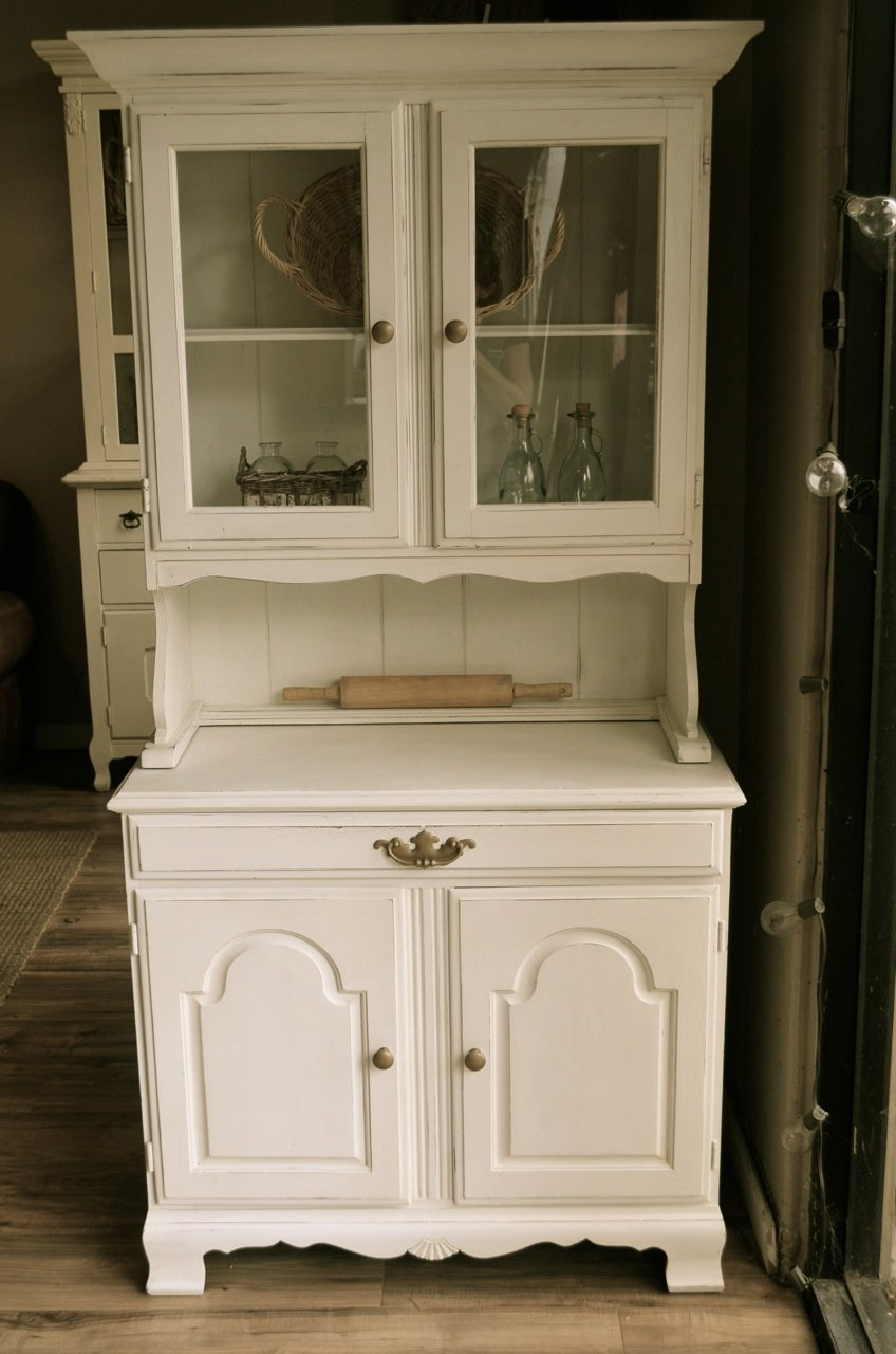 table small unit notch top most hutch dining room console buffet kitchen originality white entrance cabinets