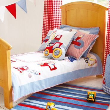 Little Digger Junior Or Cot Bed Duvet Set Quilts And Bedding Nursery But With A Yellow Would Be Better