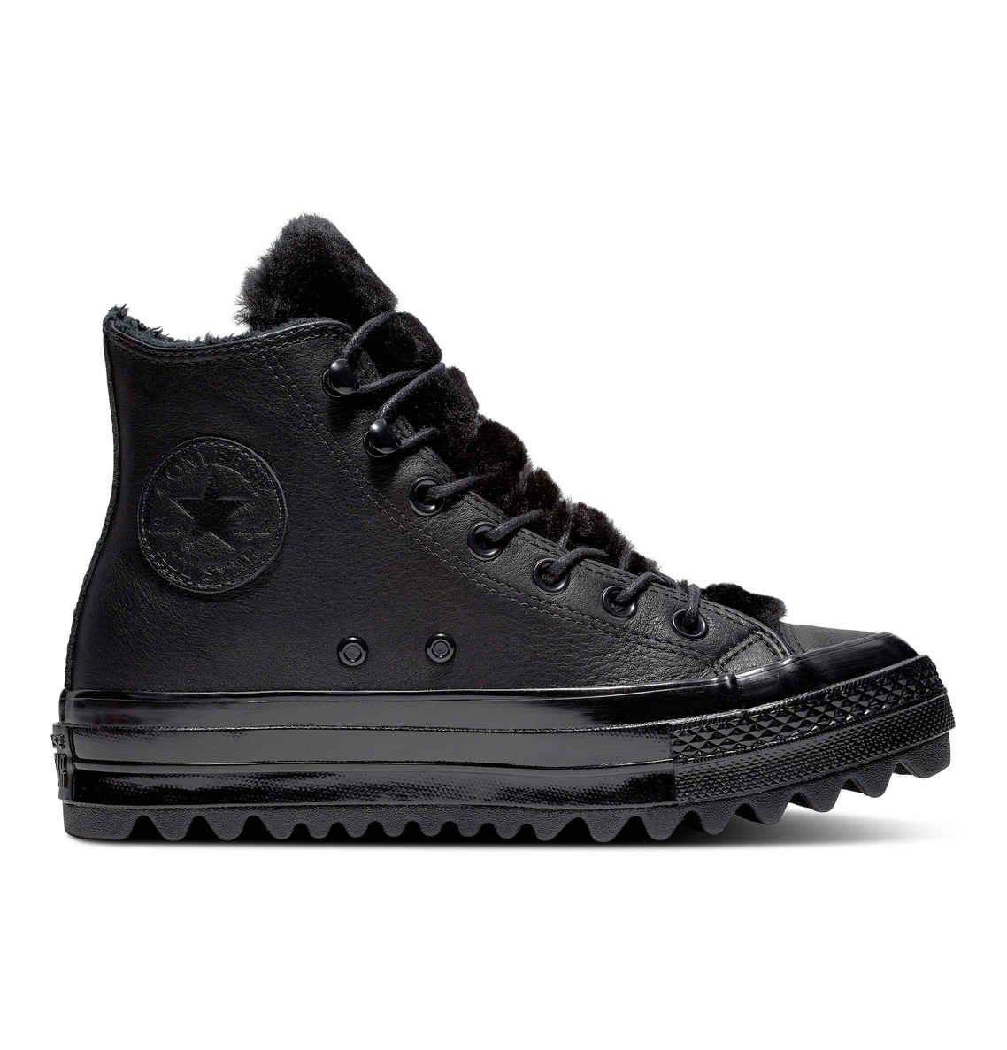 Converse Chucks Chuck Taylor As Lift Ripple Hi Wmn (blackblacknatural)