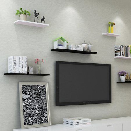 Upgraded 3pcs Shelf Bookshelf Holder Wall Mounted Home Display