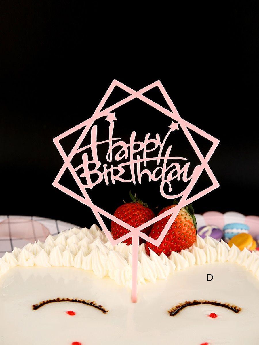 Birthday cake topper decoration 1pc shein birthday