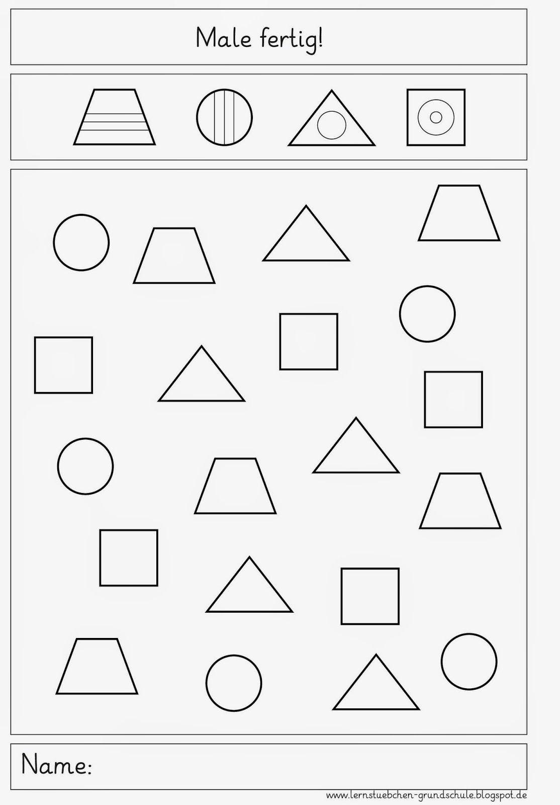 male fertig geometria preschool worksheets kindergarten worksheets und kindergarten portfolio. Black Bedroom Furniture Sets. Home Design Ideas