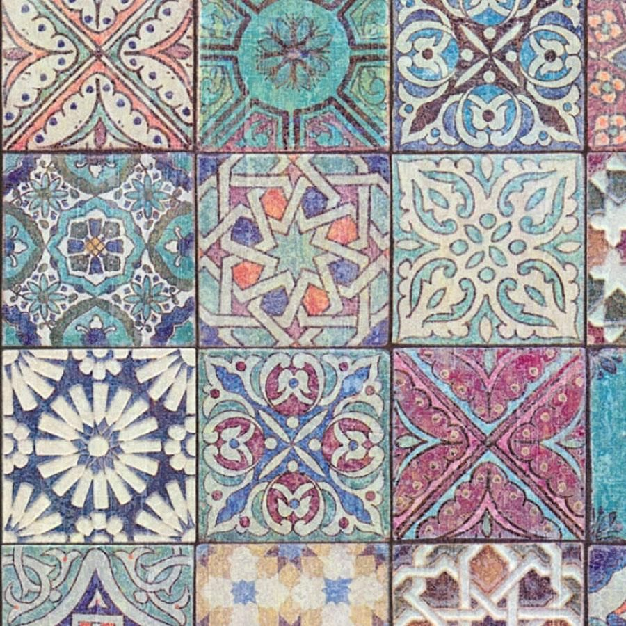 Moroccan Croatian Style Tile Effect Wallpaper Multicoloured Your 4 Walls Moroccan Tiles Pattern Style Tile Tile Wallpaper