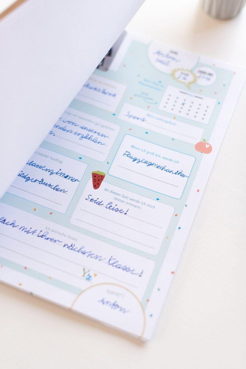 Abschiedsgeschenk für Lehrer: Freundebuch mit Download Vorlage - Fräulein K. Sagt Ja Hochzeitsblog