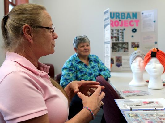 Kathy and Sally in the Newark Advocate