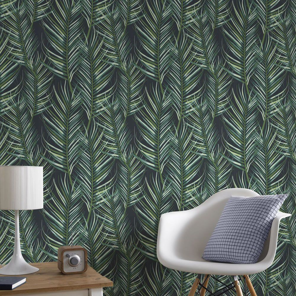 Superfresco Easy Wallpaper Palm Leaves Green Palm leaf