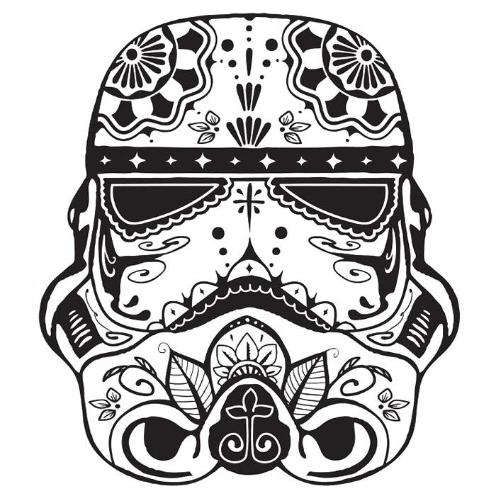 It is a picture of Hilaire Skull Trooper Coloring Page