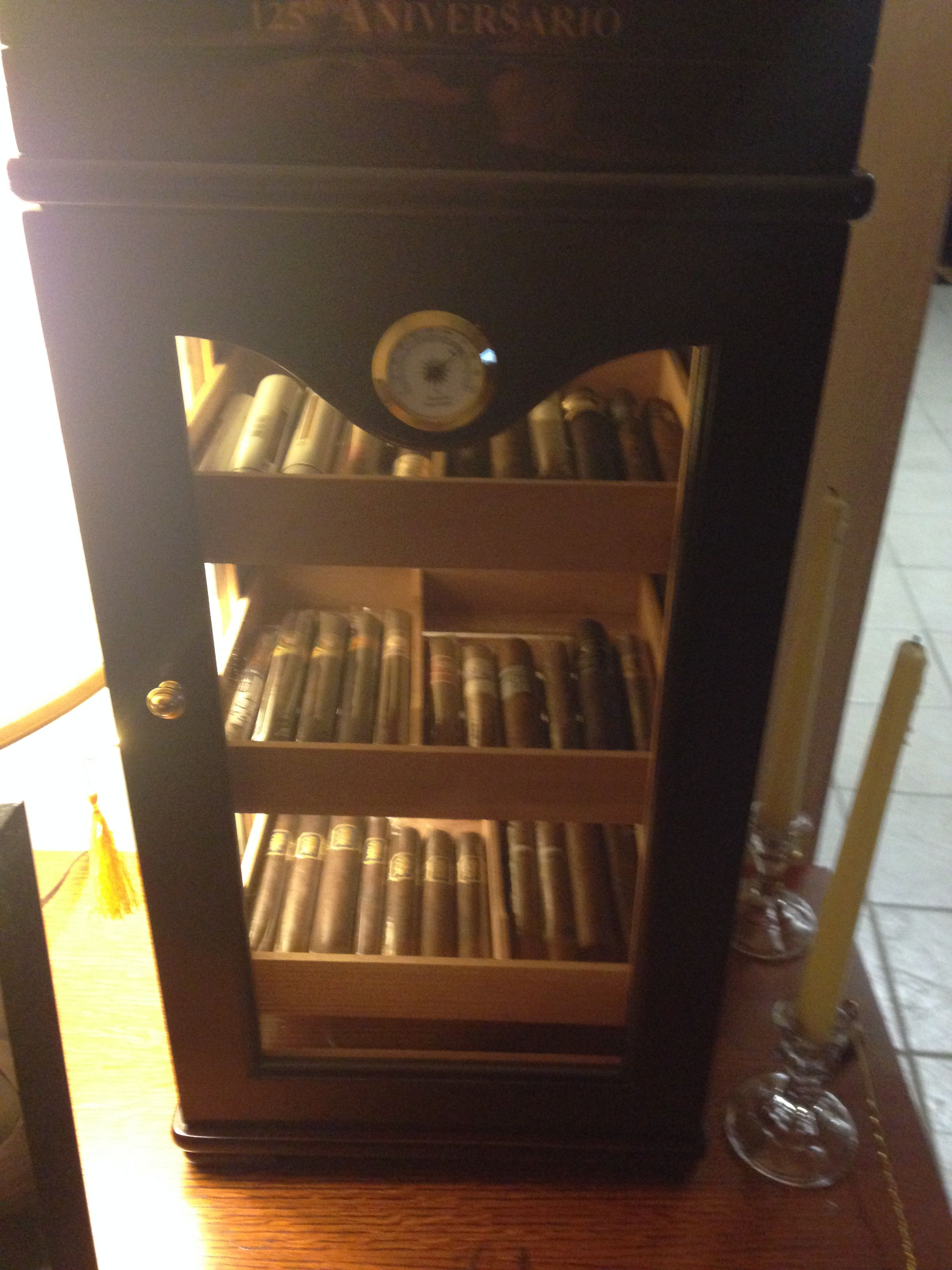 Cigars International gave me an incredible deal on this Stand up Display Humidor for my show piece cigars....