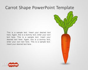 Free Carrot Shape Powerpoint Template Free Powerpoint Templates