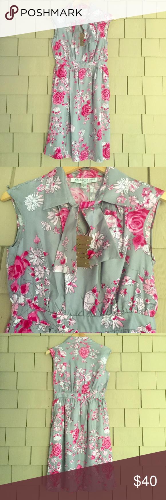 Sale Austin Reed Sleeveless Silk Dress Silk Print Dress Clothes Design Dresses