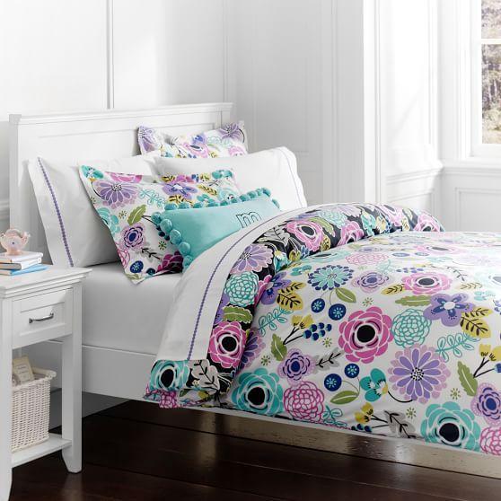 Abby Floral Duvet Cover Sham Dorm Room Bedding Girls Duvet