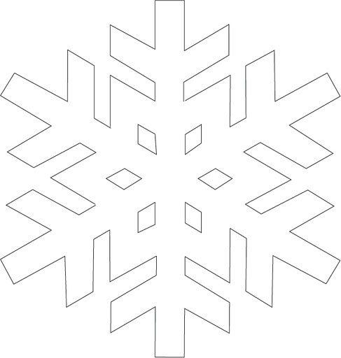 Kar Taneleri Boyama Sayfası Ve çizgi çalışması Krigami Snowflake