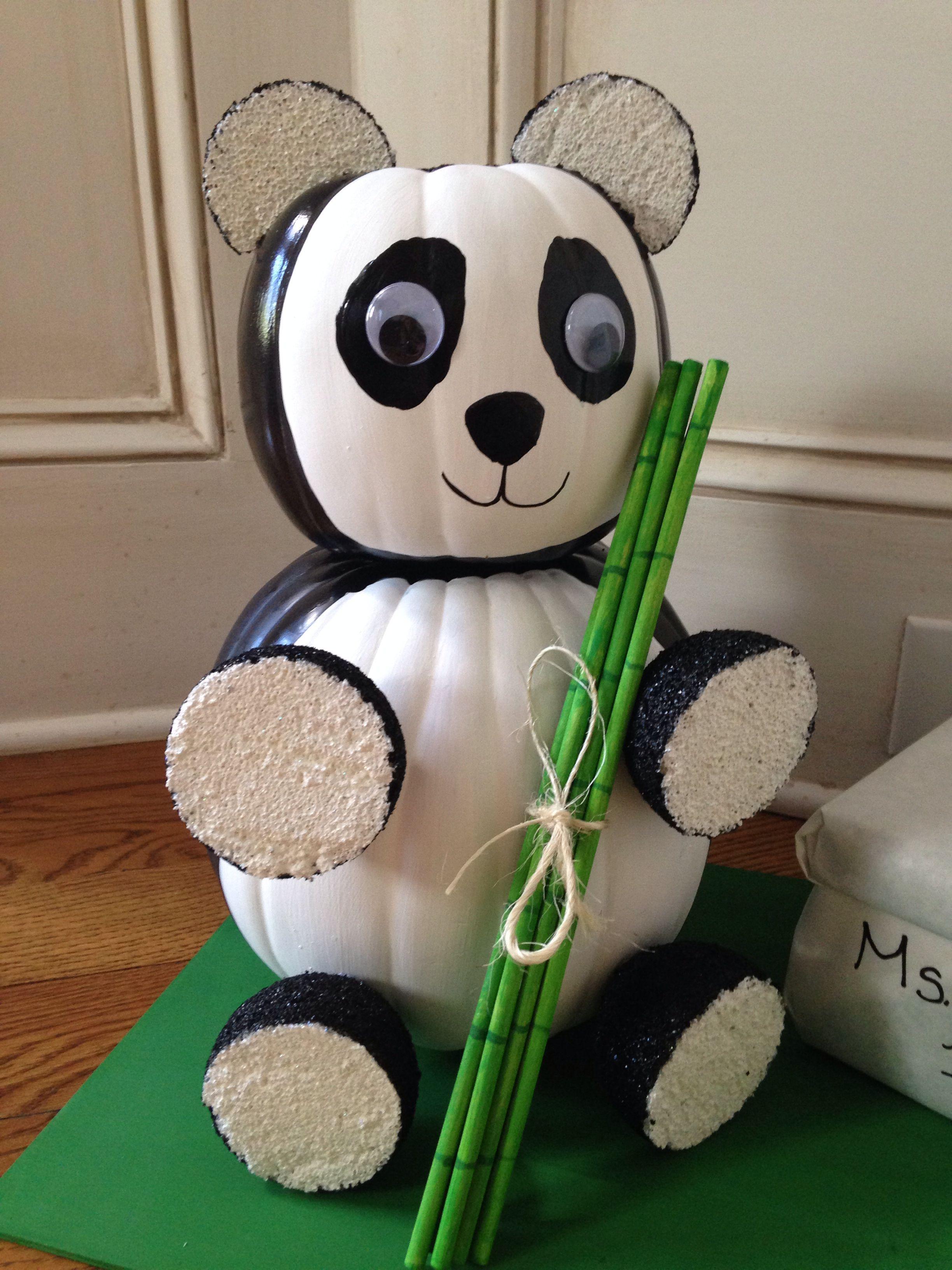 Panda Bear Pumpkin