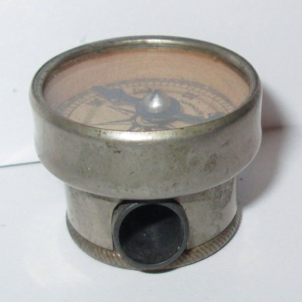 1920's TOY ? POCKET COMPASS & PENCIL SHARPENER COMBINATION made in GERMANY