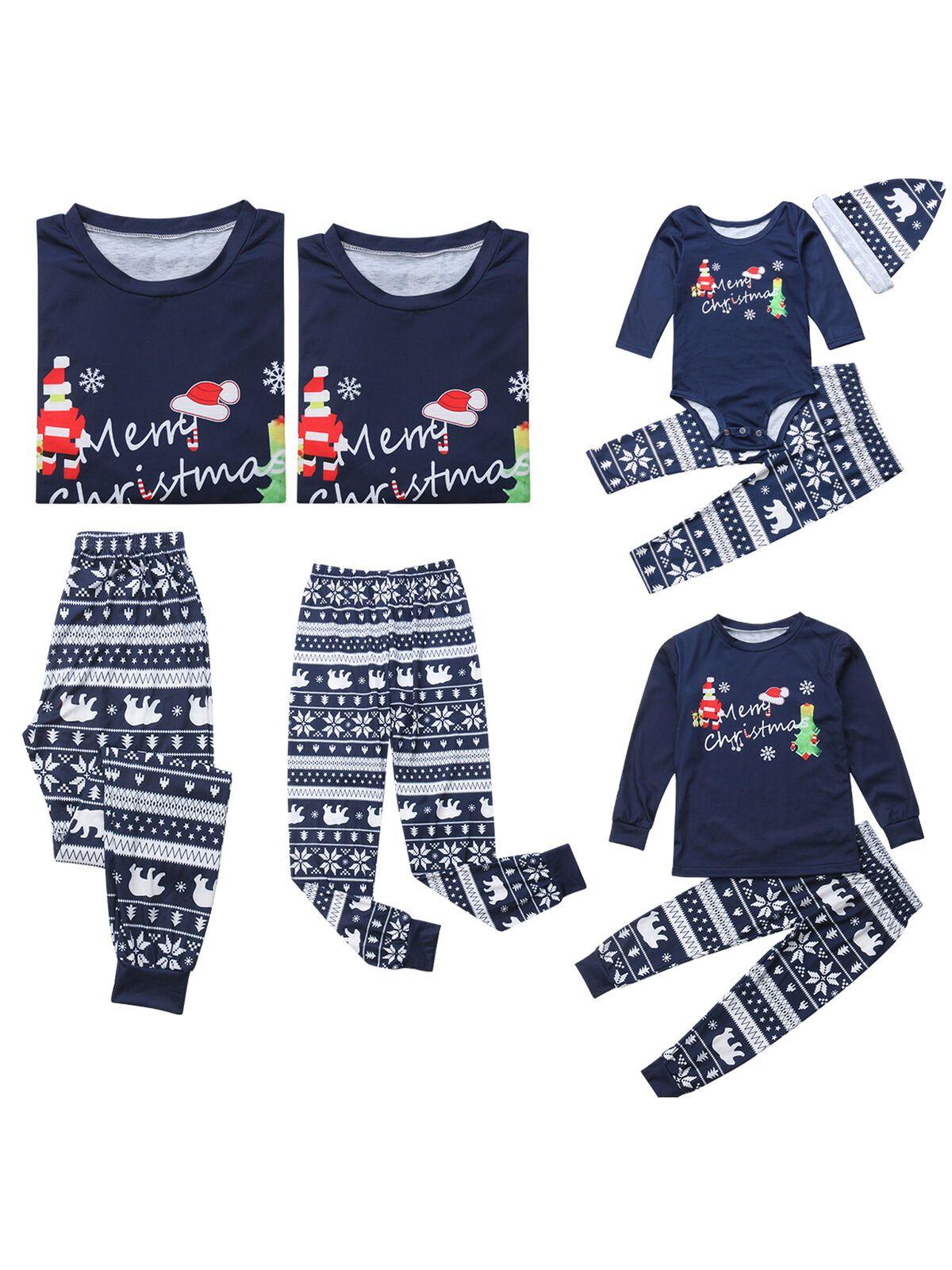 Calsunbaby Christmas Family Matching Pajamas PJs Set Dad