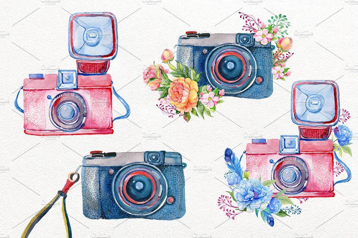 Vintage Camera Watercolor Vintage Camera Tattoos Camera Painting Camera Art