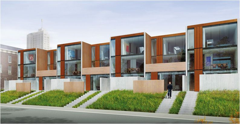 On street parking with curb appeal arthouse st louis 7 for Contemporary townhouse plans