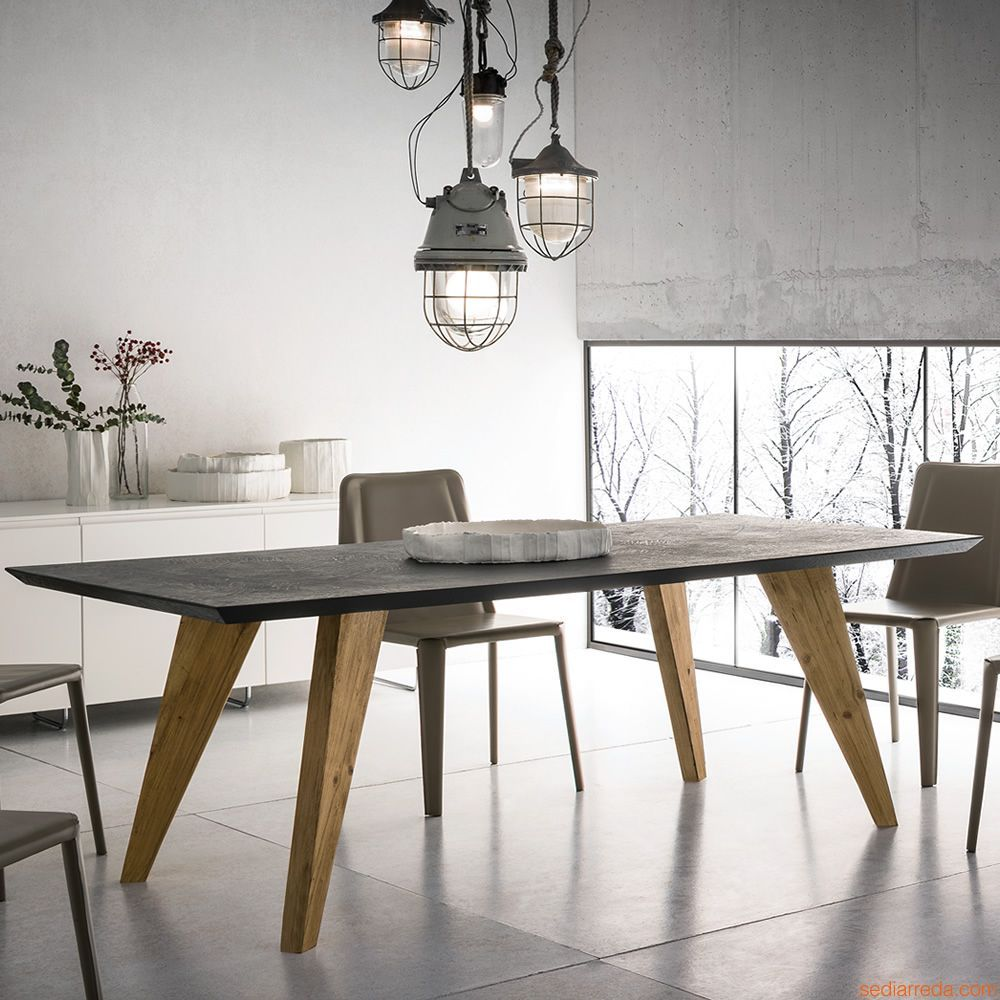 Artemidoro Industrial Style Dining Table Dining Table