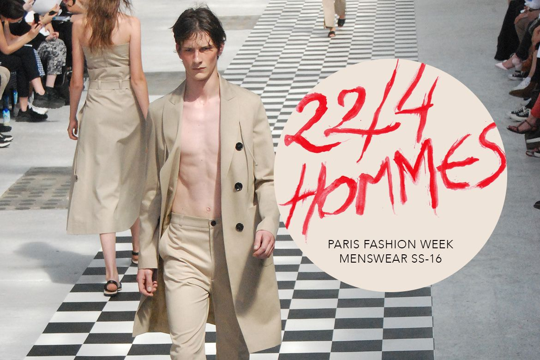 #pfw #mfw #Paris #Fashion Week #Homme #SS16 : #224Hommes #menswear