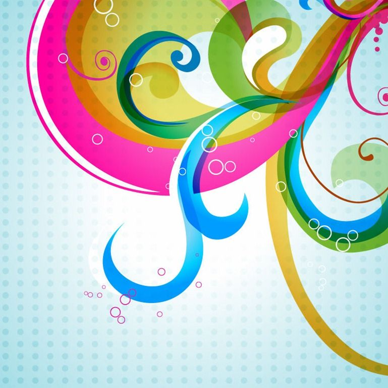 Cool Backgrounds for Word Documents vector colorful floral