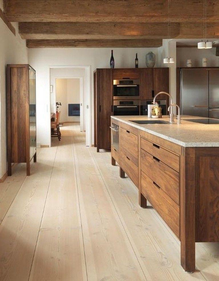 40 Contemporary Walnut Kitchen Cabinets Design Ideas Kitcheninteriordesign Kitcheninspiration Kitcheninterior Cuisine Bois Meuble Cuisine Cuisine Moderne
